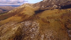 Drone video - Balkan mountains in National park Lovchen and The Kotor Bay Stock Footage