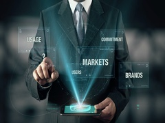 Businessman with Brand Loyalty Usage Users Markets Commitment Brands Stock Footage