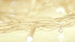 Christmas decorative glittering lights, Dolly shot Stock Footage
