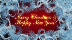 Merry Christmas & Happy New Year Background Stock Footage