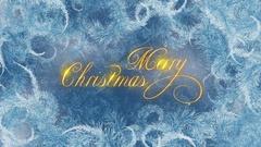Merry Christmas Calligraphy Loop Stock Footage