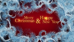 Merry Christmas & Happy New Year Typography Stock Footage
