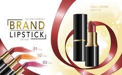 Colorful lipstick mockup Stock Illustration