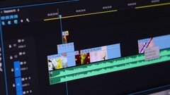 Video Editing Software Going Through The Timeline Frame By Frame Point Of View Stock Footage