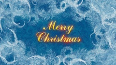 Merry Christmas Ice Pattern Stock Footage