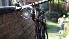 Rusty Vintage Bicycle Stock Footage