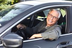 Senior car driver Stock Photos