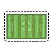 Isolated league of soccer sport design Stock Illustration