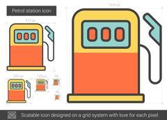 Petrol station line icon Stock Illustration