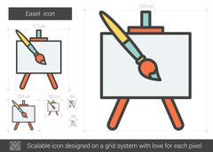 Easel line icon Stock Illustration