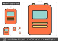 Medical records line icon Stock Illustration