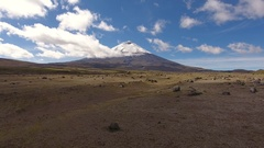 Aerial view of Cotopaxi Volcano Stock Footage