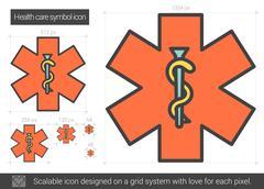 Health care symbol line icon Piirros