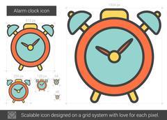 Alarm clock line icon Stock Illustration