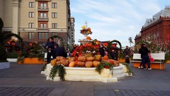 Moscow, Russia - November 09. 2016. Moscow Autumn - gastronomic festival in Stock Footage