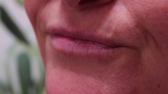Woman Smilling Close Up Stock Footage
