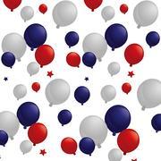 Balloons air usa celebration Stock Illustration
