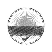 Seal of guarantee with approval symbol Stock Illustration