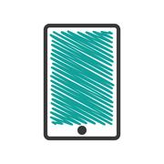 Smartphone device isolated icon Stock Illustration
