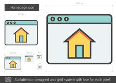 Homepage line icon Stock Illustration