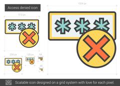 Access denied line icon Stock Illustration