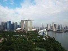 Singapore Skyline POI Stock Footage