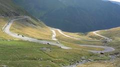 Alpine winding road Stock Footage
