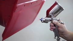 Spray gun for automotive paint Stock Footage