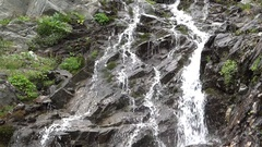 Capra waterfall in Fagaras mountains, Romania Stock Footage