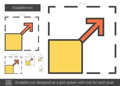 Scalable line icon Stock Illustration