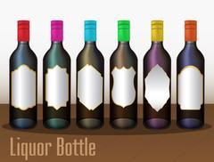 A Liquor Bottle Stock Illustration