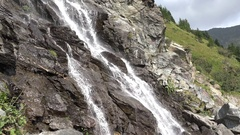 Mountain alpine waterfall Stock Footage
