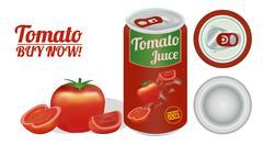 A Tomato Juice Stock Illustration