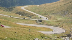 Apline winding road hairpin turns Stock Footage