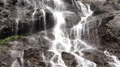 Detail of waterfall flow Stock Footage
