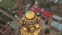 Aerial shot of Holy Trinity Convent of Mercy.Russia. Stock Footage