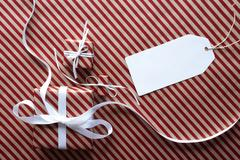 Two Gifts With Label, Copy Space Stock Photos