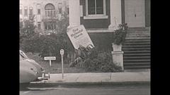 Vintage 16mm film, 1946 Sarasota hurricane damage #2 Stock Footage