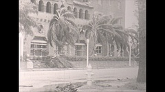 Vintage 16mm film, 1946 Sarasota hurricane damage #3 Stock Footage
