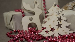 Festive set of objects for a warm evening with family and friends Stock Footage