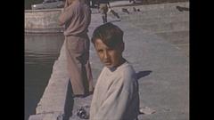 Vintage 16mm film, 1946 Sarasota boys fishing Stock Footage