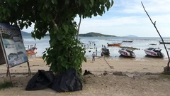 Phuket - 16 November: driving at Rawai beach timelapse shooted with stadycam Stock Footage