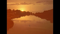 Vintage 16mm film, 1946 Sarasota sunrise Stock Footage