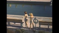 Vintage 16mm film, 1948 Sarasota Sun Debs girls #1 Stock Footage