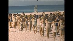 Vintage 16mm film, 1948 Sarasota Sun Debs girls #2 Stock Footage