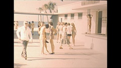 Vintage 16mm film, 1948 Sarasota Sun Debs girls #3 Stock Footage