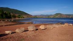 Lac du Salagou Stock Footage