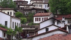 Old street in the historic town of Safranbolu Stock Footage