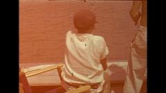 Vintage 16mm film, 1946 Sarasota dockside fishing sequence Stock Footage