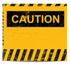 Caution banner Stock Illustration